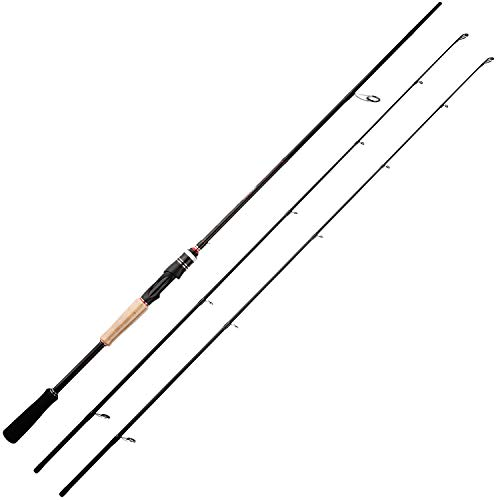 BERRYPRO 7-Feet Casting rods and Spinning rods, 24 Ton Carbon Fiber Baitcasting Fishing Rods - Two Piece Twin-Tip Rods and One Piece Rods (Twin-tip Spinning - 7' M & MH - 2pcs)