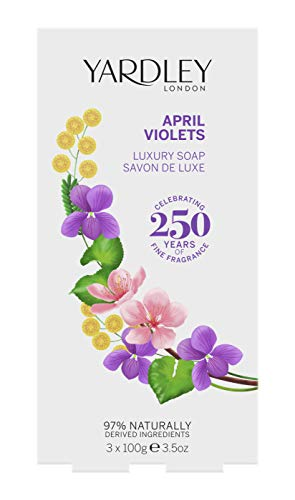 Yardley London April Violets Luxury Soap 3 x 100 g