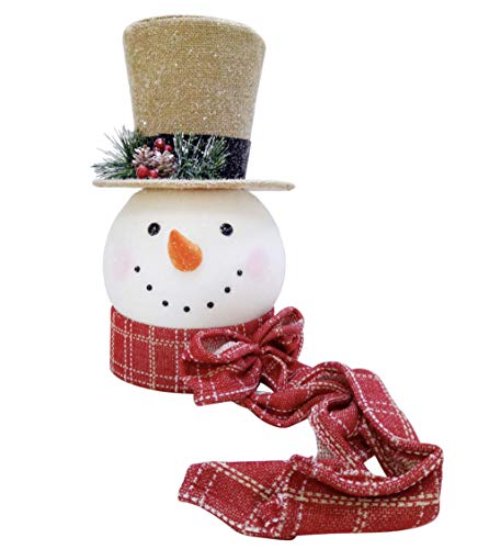 at home Christmas Decoration Snowman Head Christmas Tree Topper Seasonal