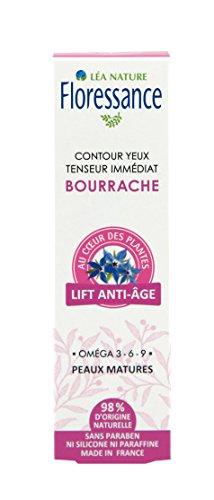 Floressance Contour des Yeux Antiâge Bourrache Bio Flacon Pompe 15 ml
