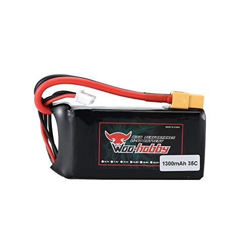 Eletam Batería Recargable RC LiPo 3S 11,1 V 1300 mAh 35C con Enchufe XT60 para Accesorios de Barco RC Avión Drone