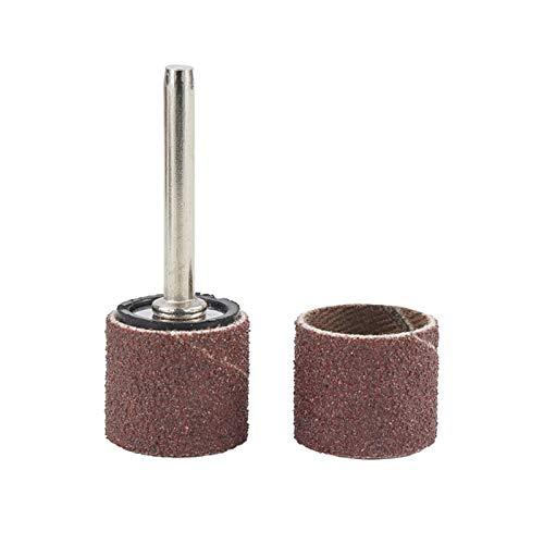 SANKUAI LT-Discs, 12,7 mm Schleiftrommel Kit Grit # 80# 100# 120 Schleifband für Dremel-Ärmeln für elektrische Mini-Winkelschleifende Schleifkörbe (Farbe : 102pcs 100 Grit)