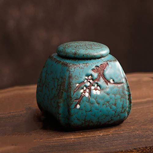 SXLZ Urnen Für Asche Erwachsene Klein Hunde Urnen Für Asche Exquisite Handarbeiten Elegant Langlebig Entwickelt Um Ihre Ewige Liebe Darzustellen,Blue-11x11cm