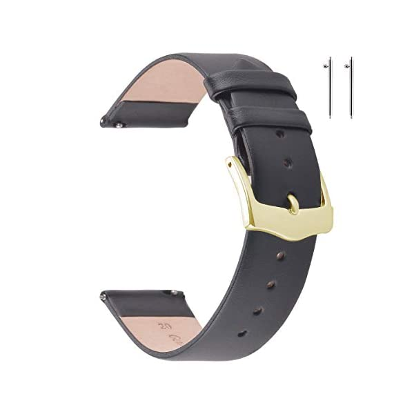 EACHE Quick Release Women Leather Watch Bands Thin Leather Watch Straps for Ladies 12mm 14mm 16mm 18mm 20mm More Color for Choice