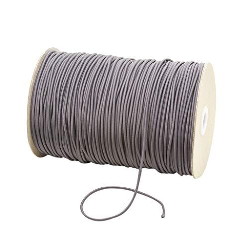 Elastische Bänder für Gesicht Breite elastische Schnur für Crafts elastisches Seil, Gummi-+-band Breit zum Nähen, Wäschegummi Gummizug Gummilitze Elastisches Elastic Band Nähzubehör 3mm 10m (H)