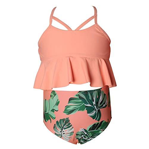 U-FLAYVOUR Girls Swimsuit Two Pieces Falbala Bikini Sets High Waisted Flounce Bathing Suit