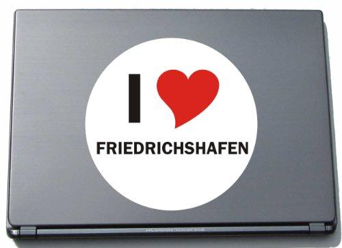 INDIGOS I Love Aufkleber Decal Sticker Laptopaufkleber Laptopskin 297 mm mit Stadtname FRIEDRICHSHAFEN