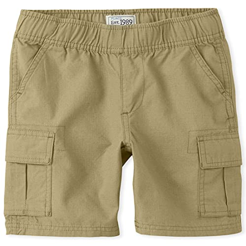 The Children's Place boys Pull On Cargo Shorts, Flax, 5