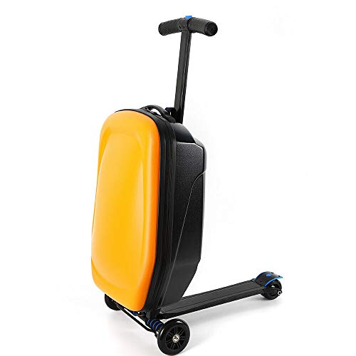 Why Should You Buy CNCEST Aluminum Alloy 20'' ABS Scooter Travel Suitcase for Business Airport