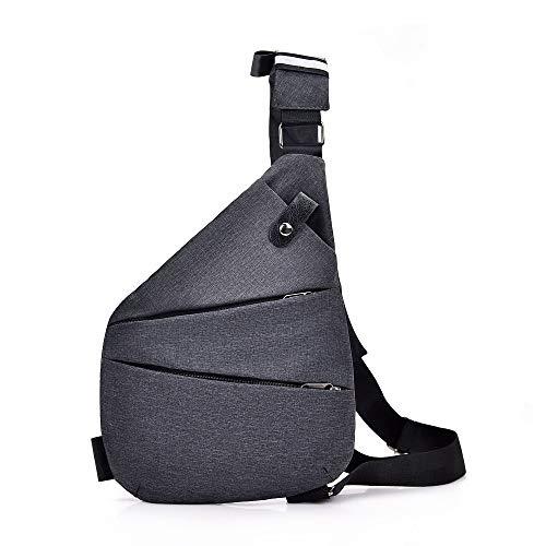 Tmflexe Sling Bag Ligero Antirrobo Mochila de Hombro Pecho Cruzado pequeña Bolsa de Day Pack Exterior…