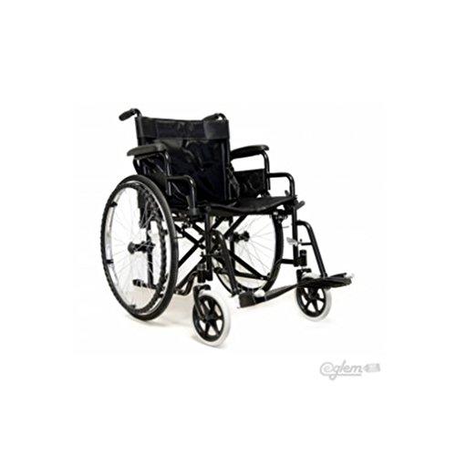 Sedia a Rotelle Pieghevole Leggera ad Autospinta,Carrozzina per Disabili ed Anziani con Braccioli Poggiapiedi Estraibili,Cintura di Sicurezza,Qualità Certificata,63 x 87 x 104 cm,Nero
