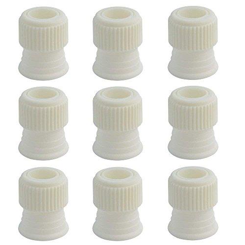 10 piezas decoración de tartas acoplador, haotech punta de tubo de tamaño pequeño acopladores acopladores de manga pastelera reutilizables de plástico para boquillas de...