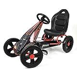 Hauck Cyclone Go-Kart, Pedalfahrzeug mit Handbremse und verstellbarem Sitz für Kinder ab 4 Jahre - Red