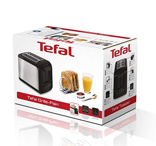 Tefal-Express-TT410D-2-Scheiben-Toaster-Schwarz-Edelstahl-2-Scheiben-850-W-160-mm