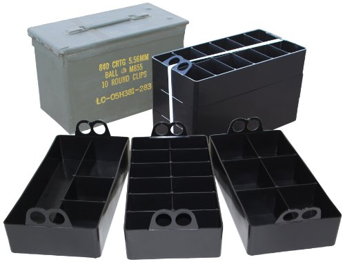MTM Case-Gard ACO 50 Caliber Ammo Can Organizer 3 Pack- Black
