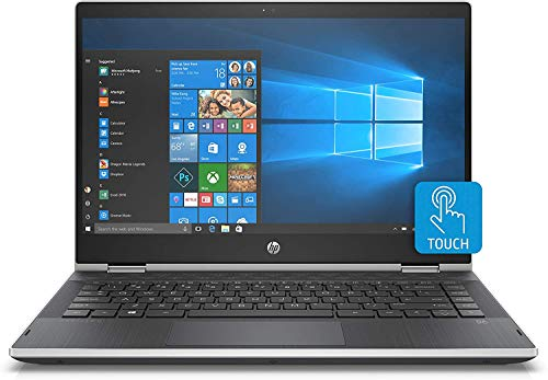 2020 Newest HP Pavilion x360 2-in-1 14' Diagonal HD IPS Touchscreen Laptop Intel Core i3 8GB SDRAM 128GB SSD Ash Silver Keyboard Frame, Natural Silver, Windows 10 | 32GB Tela USB Card