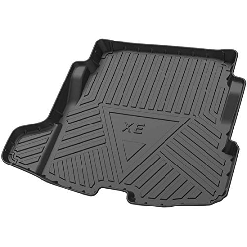 MNBX Kofferraummatten für Jaguar XE 2018-2020 Custom Tailored Rubber Trunk Liner Bodenschutz Gepäckablage Wasserdichtes schwarzes Frachtmattenblatt