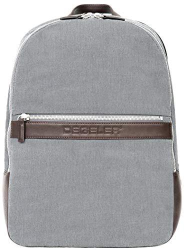 DEGELER Business Rucksack mit USB-Ladeanschluss – tragbarer Reise-Rucksack für 39,6 cm (15,6 Zoll) Laptop; leicht und wasserabweisend Computertasche für Damen und Herren Grau Nylon Regular