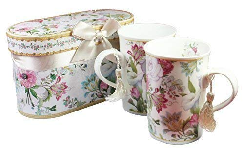 Bouquet Floral Set de 2 Fin Chinois Tasses