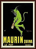 ポスター レオネット カピエッロ Maurin Quina le Puy 額装品 ウッドベーシックフレーム(ブラウン)