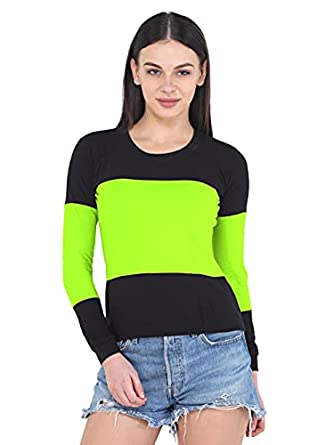 V3Squared Long Sleeve 100% Cotton Elegant Casual Color Round Neck T-Shirt Vogue Summer Spring Autumn Regular Fit T-Shirts Soft Tees Tops for Women & Girls