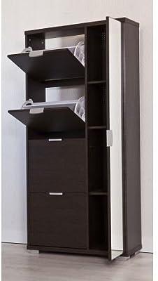 IKEA BISSA Schuhschrank in braun; 2 Fächer: Amazon.de ...