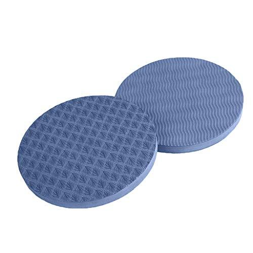 MOTOCO Yoga Knee Pad Pilates Workout Mat Yoga-Kniepolster für Workout, Runde Ellenbogenscheibe, Schutz für Gelenke und Ellbogen, 2 Stück(17X1.5CM.Blau)