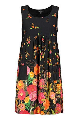 Ulla Popken Damen große Größen Jersey-Kleid Marine 54/56 747472 70-54+
