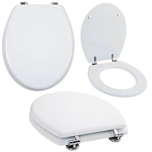 Grafner® MDF WC Sitz viele schöne Motive zur Auswahl - stabile Qualität - einfache Monatge WC Deckel Klobrille (Pure White)