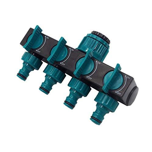 Conector de doble cabezal Conectores de la manguera de la manguera de la manguera del jardín Conectores de la manguera de agua de 4 vías estándar Conectores de grifo de hilo femenino 1 PC preservativo
