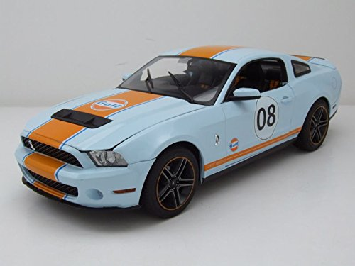 Greenlight 12990 2012 Ford Mustang Shelby GT500 Gulf Oil #08 1/18 Diecast Model Car