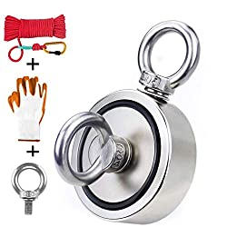 Fishing Magnet Kit With Rope & Gloves