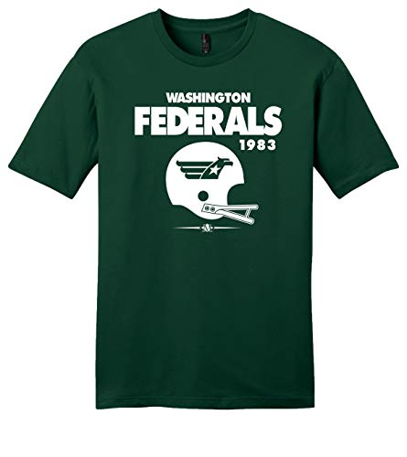 Throwbackmax Washington Federals USFL 1983 Football Tee Shirt - Any 2 Tees for 33 - Faded Royal (XL)