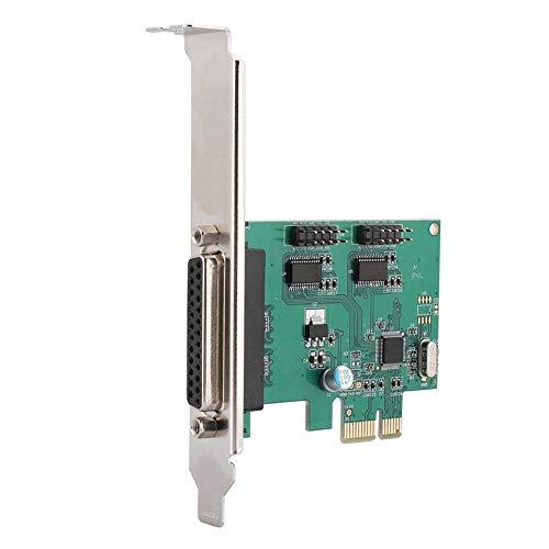 Desktop PCI uitbreidingskaart, PCI-E op 2 seriële kaart + 1 parallelle interface 2,5 Gbit/s PCI-Express LPT-poort adapterkaart voor DOS Windows Linux