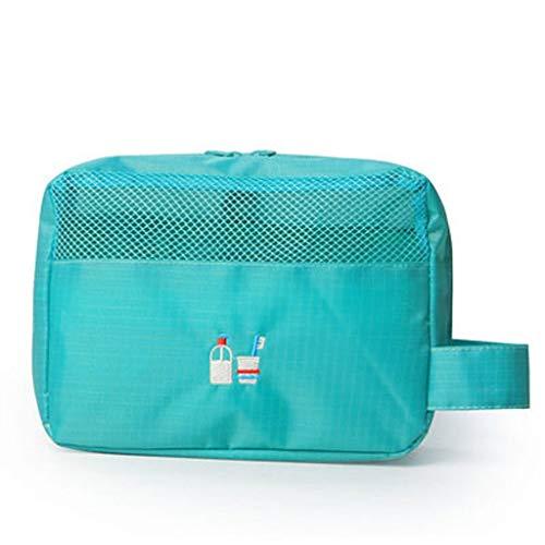Hkwshop Sac Organiseur Sac Multifonction Sac cosmétique de Toilette Maquillage Portable Pouch Sac Voyage for Les Femmes Portable Makeup Case (Color : Blue)