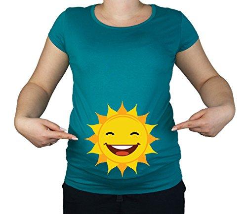 Colour Fashion Maternité Grossesse Taille 10–20 Coton pour Bébé Soleil Little Sunshine T-Shirt Tunique Imprimé - - Moyen