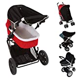 Stroller Sun Shade (0-6m) | Baby Sleep Aid and Sun Cover for Strollers | Stops 99% of The Sun's Rays (UPF50+) | Breathable and Universal fit | SnoozeShade Original - Limited Edition Gray Trim