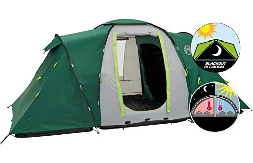 Coleman Vis-a-Vis Spruce Falls 4 Plus Tent - Green/Grey, One Size