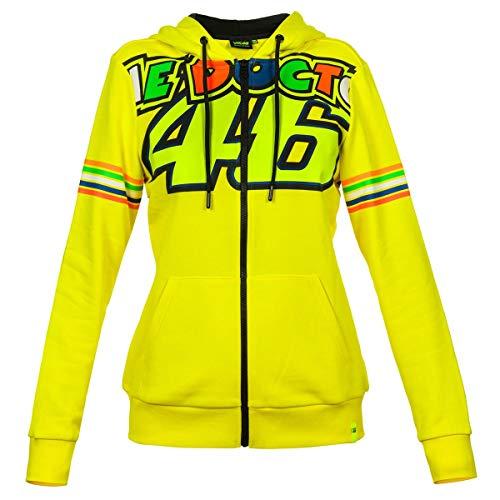 Valentino Rossi Vrwfl307201003 trui met capuchon met ritssluiting, strepen dames, geel, S 94 cm/37In Chest