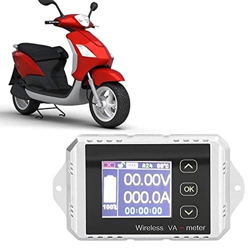 FECAMOS Spannungs-Strom-Messgerät, VAT-1300 Coulomb-Zähler Schnelltest mit USB-Kabel für Batteriewartung Platz für Batterietester