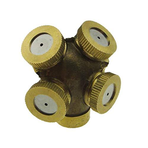 F Fityle Ottone 1/4 `` DN8 Spray Atomizzatore Ugello Irrigatore Irrigatore a 4 Teste 12,5 MM