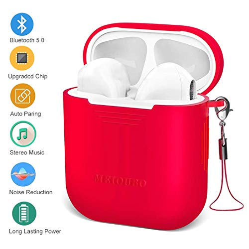Bluetooth Headphones, Wireless Earbuds,3D Stereo Earpods 24H Playtime Wireless Sports Headset,IPX5 Waterproof,Pop-ups Auto Pairing Earpieces Earphones with Noise Cancelling for Android/Samsung