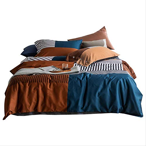 QRQR Four-Piece Four-Piece Bed Bed Four-Piece Set Of Bedding Digital Print Gong Satin Lint Cotton Bed Vw 1.5M Bed Width.