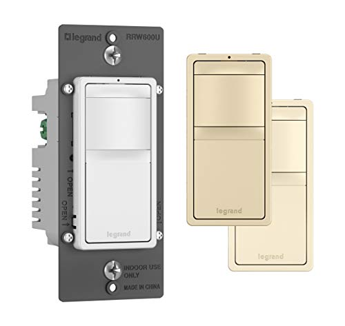 Legrand radiant Motion Sensor Light Switch, Occupancy and Vacancy Sensor for Indoor or Outdoor, Automatically Turns On, RRW600UTC