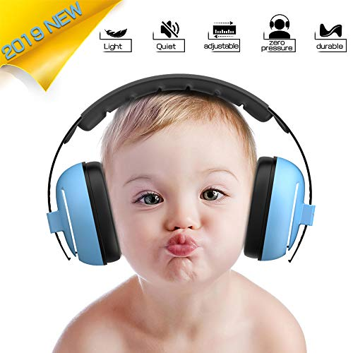 Image of Baby Headphones Baby Ear Protection - Noise Cancelling Headphones for Babies, Toddlers and Infants (Blue)