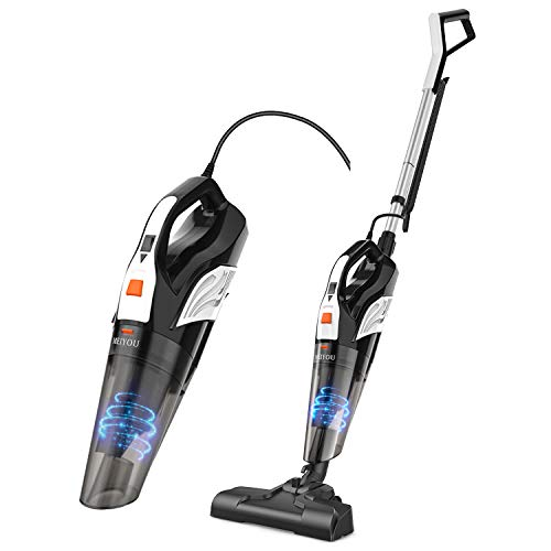 Vacuum Cleaner Corded 18KPa Powerful Suction Stick Vacuum 2 in 1 Handheld Vacuum with Stainless Steel Filter Suit for Home&Office