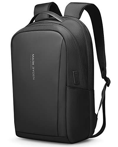 Muzee Mark Ryden Anti-Theft Laptop-Rucksack, 15,6-Zoll-wasserdichter Laptop-Rucksack und USB-Ladeanschluss Business Travel-Rucksack, Unisex