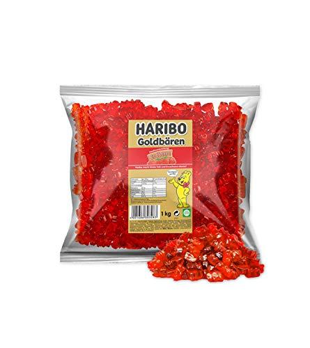 Haribo Goldbären Erdbeer, sortenreine Gummibären, 1 KG