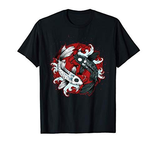 Yin Yang Koi Pez Carpa Pez Camiseta