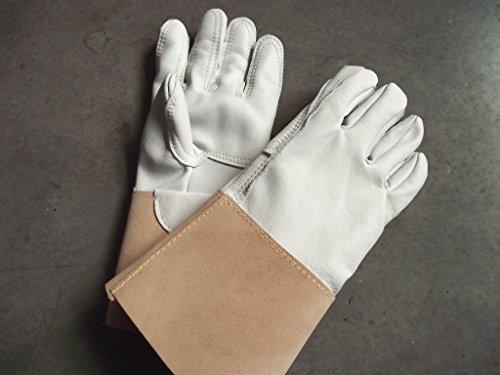 Qualitäts Rosenhandschuhe, Spezialausführung, Dornenhandschuhe, Gartenhandschuhe, echte Lederhandschuhe - Made in Germany, Handschuhe mit gedoppelter Innenhand. Aus handverlesenem Leder